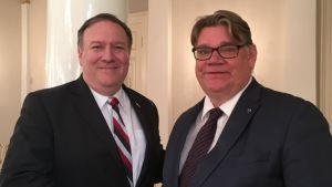 Timo Soini and Mike Pompeo
