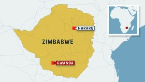 Zimbabwen kartta.