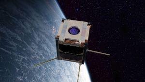 Kuvassa animaatio satelliitista.