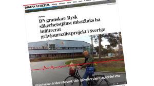 Kuvakaappaus Dagens Nyheter- sanomalehdestä
