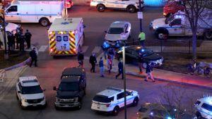 Poliisiautoja Chicagossa