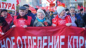 Kommunistien mielenosoitus