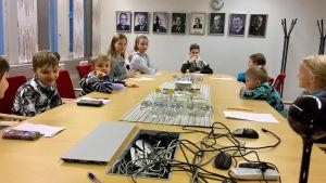 lapsi, työ, kokous, lapset, työpaikka