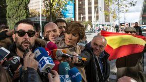 Koomikko Dani Mateo lehdistön haastateltavana 26. marraskuuta Madridissa.