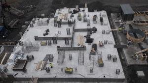 Aittaluoto biovoimalaitos Porin Aittaluoto betonivalu perustukset biovoimakattilalaitos