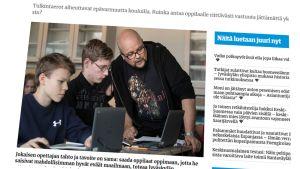 Kuvakaappaus Keskisuomalaisen verkkosivuilta.