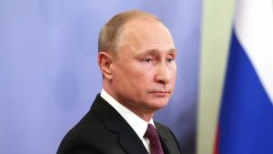 Venäjän presidentti Vladimir Putin kuvattuna G20-kokouksessa Buenos Airesissa 1. joulukuuta 2018..
