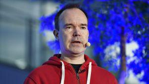 Peter Vesterbacka tiimeineen kertoi yksityisen Helsinki-Tallinna -tunnelihankkeen edistymisestä tiedotustilaisuudessa Helsingissä 3. joulukuuta .