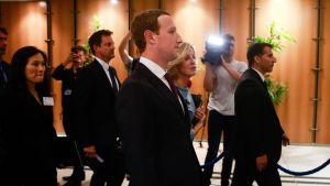 Facebookin toimitusjohtaja Mark Zuckerberg kävi Euroopan parlamentin kuultavana toukokuussa 2018. EU haluaa, että yhteisöpalvelut puuttuvat tiukemmin tekaistuihin käyttäjätileihin.