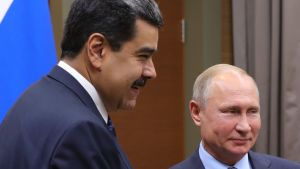 Venezuelan presidentti Nicolas Maduro ja Venäjän presidentti Vladimir Putin