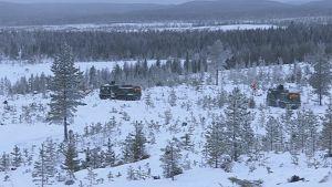 Rovajärven sotaharjoitusalueella järjestetään vuosittain marras-joulukuun aikana suuria maasotaharjoituksia. Kuva vuoden 2016 harjoituksesta.