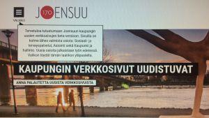 kuva Joensuun kaupungin verkkosivujen betaversiosta