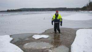 Keitele-järven vedenpinta on poikkeuksellisen alhaalla.