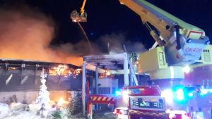 Tulipalo Pudasjärven hotelli pikku-syötteellä.