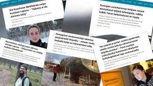Kollaasi Yle Saamen vuoden 2018 luetuimmista artikkeleista