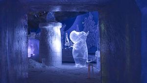 Muumi-jääveistosnäyttely