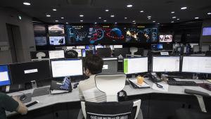 Etelä-Korean internet- ja turvallisuusviraston valvontahuone Soulissa kesäkuussa 2017.