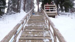 Juankosken kuntoportaissa on 60 askelmaa.
