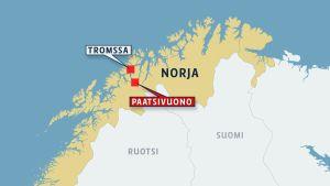 Pohjois-Norjan kartta