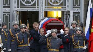 Venäjän Turkin-suurlähettilään Andrei Karlovin hautajaiset olivat joulukuussa 2016.