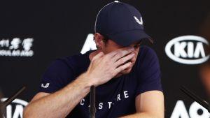 Andy Murray lehdistötilaisuudessa Melbournessa 2019.