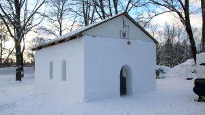 Lumikirkko Lappeenrannan Linnoituksessa