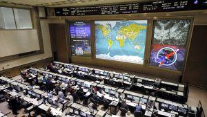 Venäläisen avaruusjärjestö Roskosmoksen valvontakeskus Korolevissa.