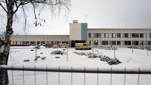 Ylivieskan Jokirannan koulun vanha puoli 16.1.2019.