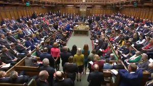 Britannian parlamentti kokoontui 16. tammikuuta.