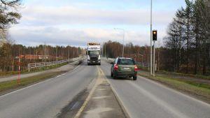 Jeesiöjoen vanha silta Sodankylässä.