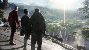 Malcolm (Kit Dale), Obi (Lara Rossi) ja Sasha (Vladimir Burlakov) saapuvat maan keskipisteeseen.