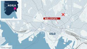 Norja, Oslo, kartta