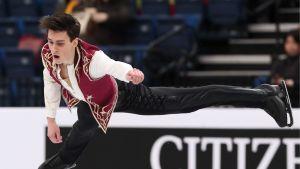 Roman Galay luisteli Minskissä lyhytohjelmassa pisteet 55,40.