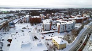 Ilmakuva Tampereen Haapalinnan asuinalueesta