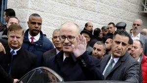 Eroanomuksensa jättänyt palestiinalaisten pääministeri Rami Hamdallah.