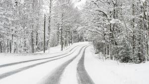 Talvinen ajotie