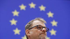 Pääministeri Juha Sipilä (kesk.) puhui Euroopan parlamentin täysistunnossa 31. tammikuuta.