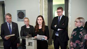 Oppositiopuolueet jättivät välikysymyksen vanhustenhoidon tilasta perjantaina Helsingissä  1. helmikuuta 2019.