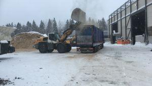 Purkupiha Oy:n kierrätyslaitos Lahden Jokimaalla helmikuussa 2019