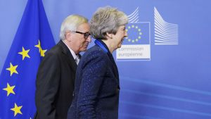 Jean-Claude Juncker ja Theresa May tapasivat Brysselissä 24. marraskuuta.