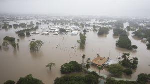 Tulvavesien vallassa oleva Townsville, Queenslandissa, Australiassa.