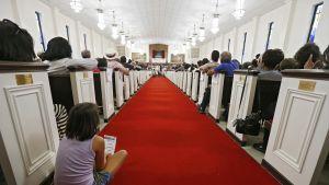 Tässä pidettiin vaalitilaisuutta texasilaisessa baptistikirkossa syyskuussa 2018.