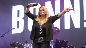 Bonnie Tyler lavalla.