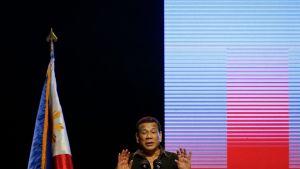 Filippiinien presidentti Rodrigo Duterte kampanjoi San Josessa Bulacanissa torstaina.