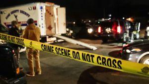 Poliisin eristämä alue Aurorassa, Illinoisissa 15. helmikuuta.