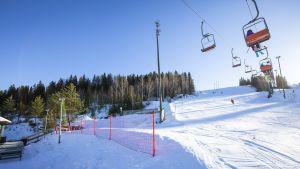 Himoksen laskettelukeskus Jämsässä 17. helmikuuta