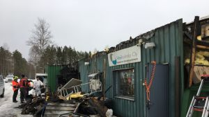 Haapajärven vedenpuhdistamo vaurioitui tulipalossa.