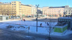Lahden jäätori helmikuussa 2019.