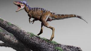 Dinosaurus kita auki puun oksalla