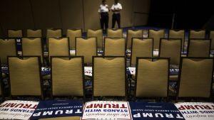 Donald Trump kampanjoi maaliskuussa Tampassa Floridassa ennen valintaa presidenttiehdokkaaksi vuonna 2016.